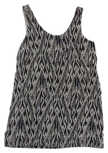 Joie short dress Grey & Black Print Silk Sleeveless on Tradesy