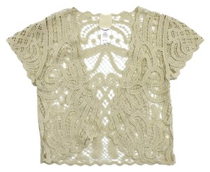 Anna Sui Cream Crochet Cotton Top