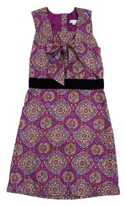 See by Chloé short dress Violet Print Silk Sleeveless on Tradesy