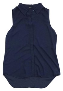 Theory Navy Sleeveless Top