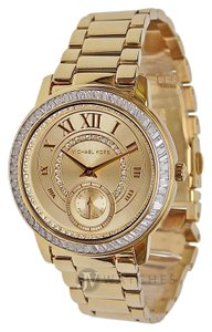 Michael Kors NEW WOMENS MICHAEL KORS (MK6287) MADELYN GOLD STRAP GLITZ DIAL WATCH