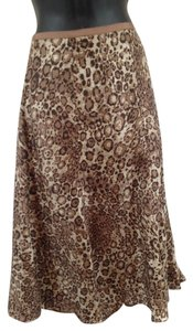 Liz Claiborne Skirt brown, tan animal print