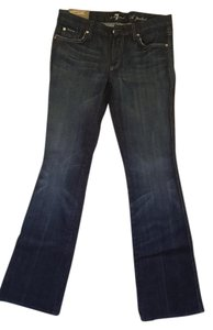 7 For All Mankind's (new with tags) Mankind Flare Leg Jeans-Dark Rinse