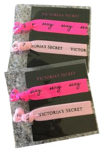 Victoria's Secret NEW VS 4 Pink Hair Ties