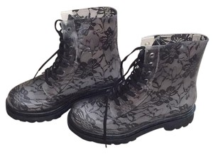 Black and Clear Boots