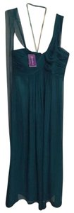 Sraphine Emerald Silk Maternity Evening Dress