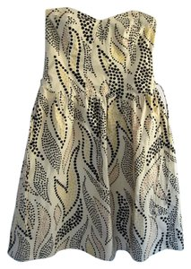 Anthropologie short dress Yellow & Black Multi color on Tradesy