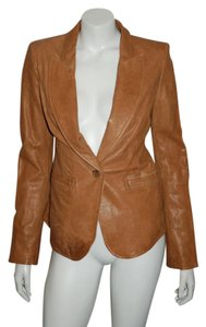 Rachel Zoe TAN Leather Leather Jacket