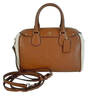 Coach Baby Bennett Leather Satchel in Saddle
