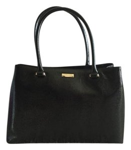 Kate Spade Tote Leather Saffiano New With Tags Satchel in Black