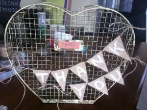 Rustic Yellow Chicken Wire Card Basket Ceremony Decoration