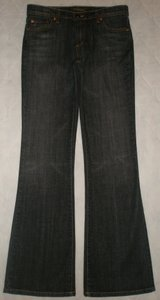 David Kahn 5 Pocket Style Zip Fly Cotton/spandex Flare Leg Jeans-Dark Rinse