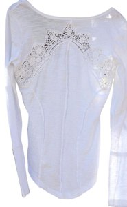Free People Lace T Shirt
