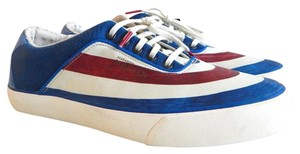 Alexander McQueen Puma Men White/Blue/Red Athletic