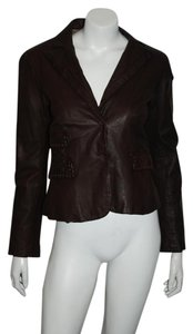 Flora Smith BROWN Leather Jacket