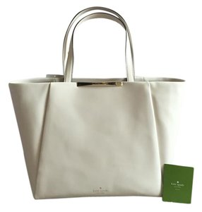 Kate Spade Leather Elegant Chic Feminine Tote in Cream