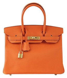 Hermès Hermes Birkin 30cm Feu Tote in Orange