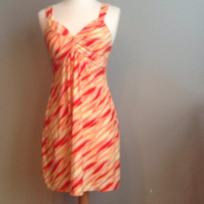 Item - Yellow Orange Above Knee Short Casual Dress Size 4 (S)