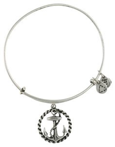Alex and Ani Alex and Ani Anchor Nautical Charm Bracelet Energy Silver Brass
