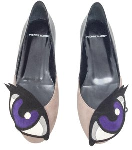 Pierre Hardy Taupe/Purple Flats