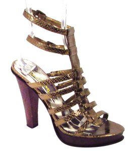 Sam Edelman Gladiator Sankeskin Gold Sandals