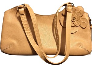Nordstrom Yellow Flower Leather Hobo Satchel in Tan
