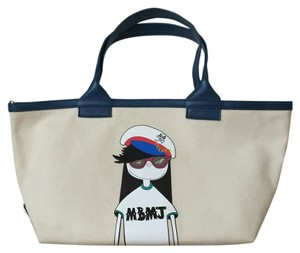 Marc by Marc Jacobs Character Collectors Tote in Cream Blue