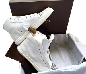 Gucci Leather Studded Sporty White Athletic