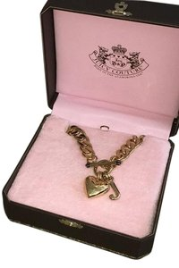 Juicy Couture Juicy Couture Iconic Heart Necklace And Braclet Set!