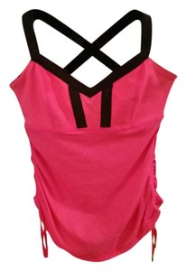 Lululemon Yoga Top Bright Pink and Black