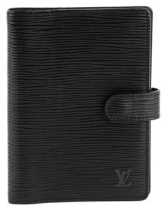 Louis Vuitton Epi Small Ring Agenda Cover Noir Black