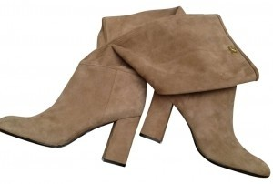 Diane von Furstenberg Designer Dvf Saxs Purchase Never Worn Worn Once Cream suede and brown leather Boots