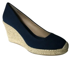ea9d656a55d J.Crew Navy Blue Seville Espadrille Wedges Size US 9 Regular (M
