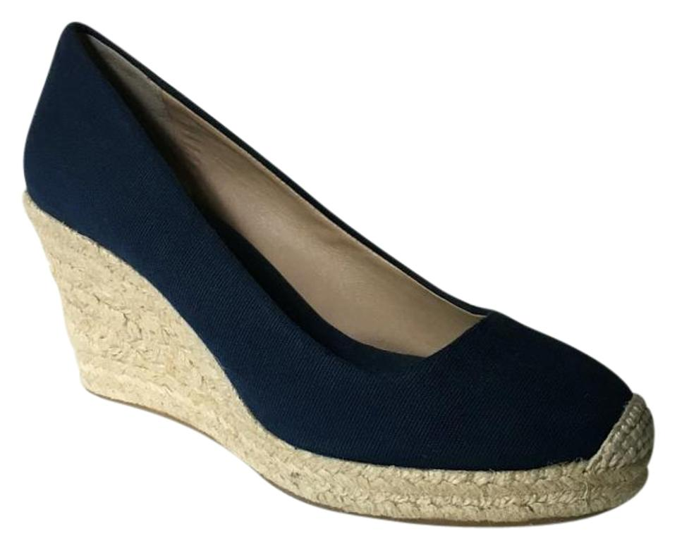c55353db90b J.Crew Navy Blue Seville Espadrille Wedges Size US 9 Regular (M, B) 61% off  retail