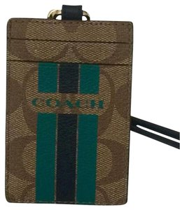 Coach Brand New COACH ID Badge Stripe F66462 ID Holder / Card Case