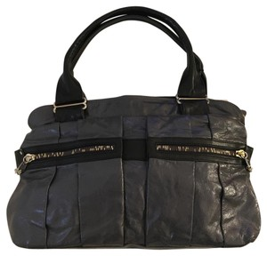 See by Chloé Satchel in Grey And Black