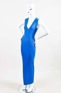 Blue Maxi Dress by Wes Gordon Adriatic Rib