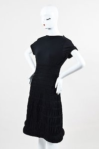 ALAÏA short dress Black Alaia Knit Ruched Short Sleeve on Tradesy