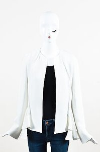 Derek Lam Derek Lam White Ivory Long Sleeve Ruffled Peplum Jacket