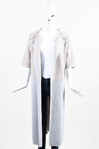 Other Sally Lapointe Stone Blue Cashmere Ss Long Cardigan Sweater