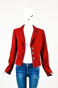 Oscar de la Renta Two Tone Red Jacket