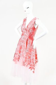 Pink Maxi Dress by Lela Rose Coral Jacquard Floral Print Sleeveless Maxi