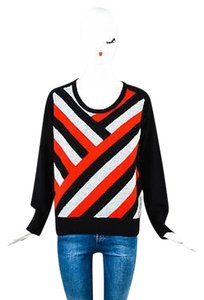 Mason Black Gray Red Cashmere Sweater