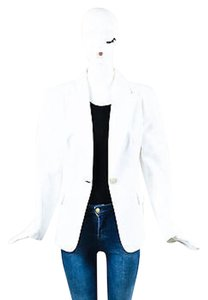 Michael Kors Michael Kors White Cotton Blazer Jacket
