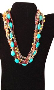 Boston Proper Multi-Strand Stone Necklace