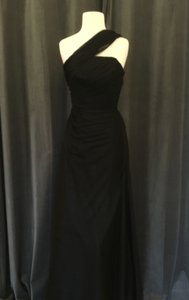 Monique Lhuillier Black Tulle 450330 Formal Bridesmaid/Mob Dress Size 0 (XS)
