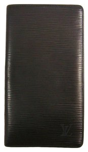 Louis Vuitton Black Epi Leather Porte Cartes Credit Long Bifold Wallet Spain