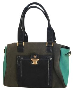 Tory Burch Satchel in Grey And Blue