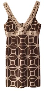 Trina Turk short dress Brown and white on Tradesy