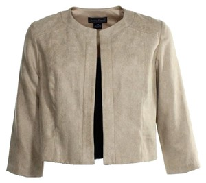 Jessica Howard Beige Faux Suede Jacket